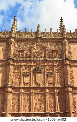 The University of Salamanca (Spain) - stock photo
