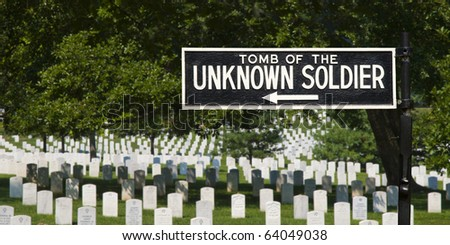 The Unknown Soldier Gravestones - stock photo
