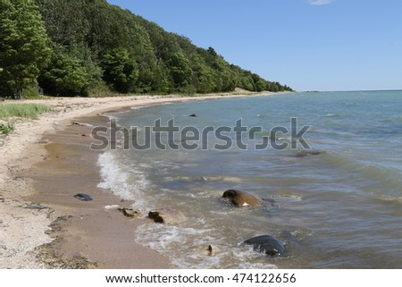 The unspoiled beaches of Beaver Island, in Lake Michigan.