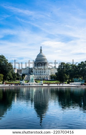 The US Capitol in Washington, DC - stock photo