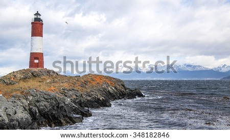 The Ushuaia Lighthouse - stock photo
