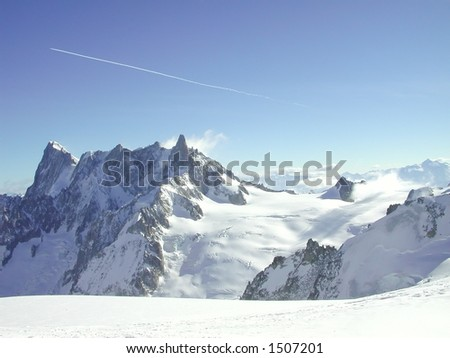 The Vallee Blanche - stock photo