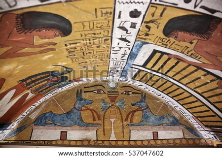 November painting stock photos royalty free images for Ancient egyptian tomb decoration