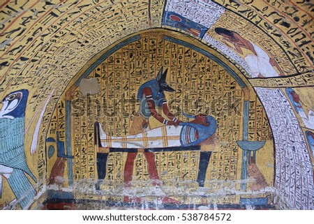 Valley of the kings stock images royalty free images for Ancient egyptian tomb decoration