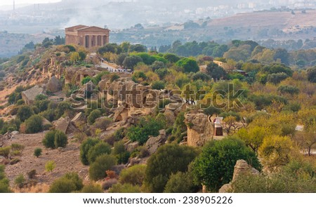 The Valley of the Temples, Agrigento, Sicily, Italy - stock photo