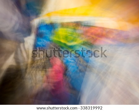 The varicolored blur Abstract picture. Portrait Girl. - stock photo