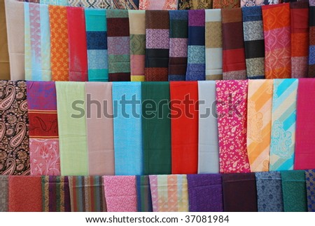 The variety of eastern shawls