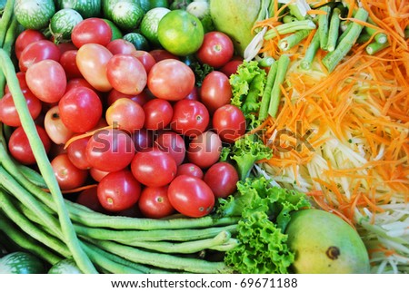 The variety of nuture vegetable in the dish