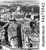 The Vatican as seen from above - stock photo