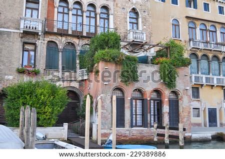 The Venice Lagoon in Venezia in Italy - stock photo