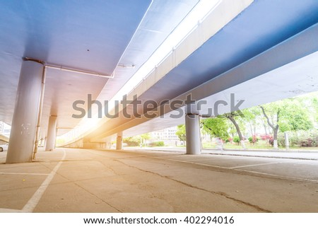 the viaduct of the city - stock photo