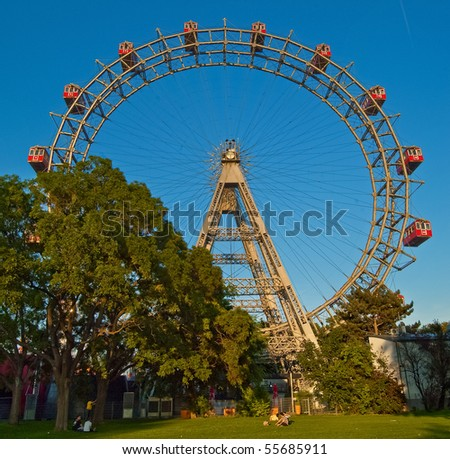 The Vienna big wheel - stock photo