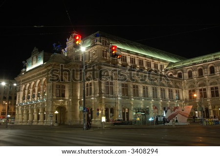 The Vienna State Opera at Night
