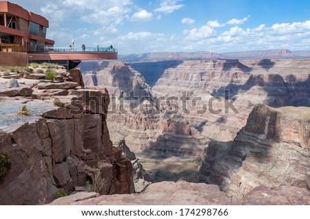 The view from Guano Point on the Grand Canyon West Rim  - stock photo