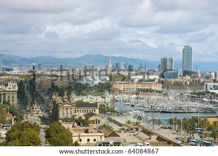 The View from Monjuic - stock photo