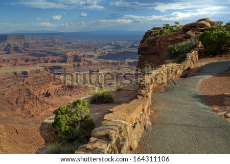 The view from the Dead Horse State Park viewpoint, Utah. - stock photo