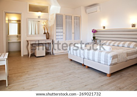 The view of a master bedroom - stock photo