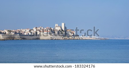The view of Antibes, French Riviera - stock photo
