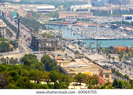 the view of Barcelona, Spain - stock photo