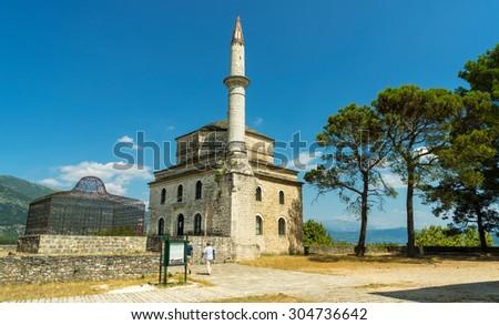 The view of Ioannina in Greece, Ali Pasha island - stock photo