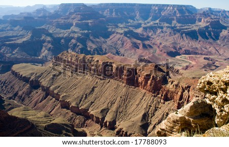 The view on the Grand Canyon