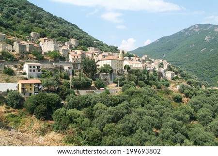 The village of Olmeto on the island of Corsica, France