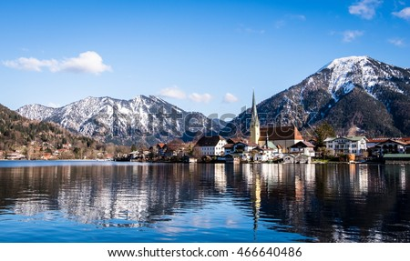 the village rottach-egern at the tegernsee lake - bavaria - germany