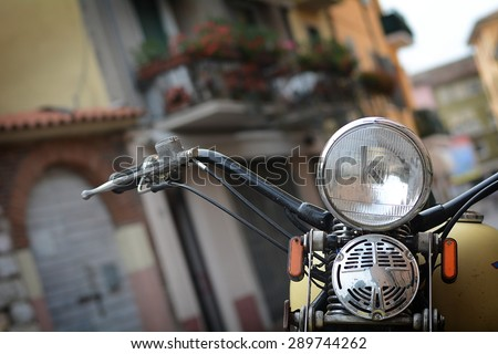 The vintage motorcycle - stock photo