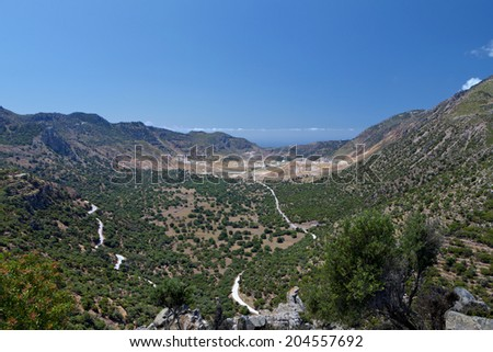The volcano of Nisyros island in Greece - stock photo
