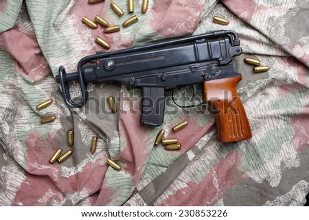 the Vz-61 Scorpion Submachine Gun - stock photo