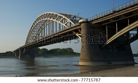 The Waalbrug in Nijmegen The Netherlands - stock photo