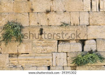 The Wailing Wall, Jerusalem, Israel - stock photo