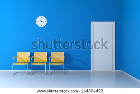 The waiting room - stock photo