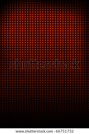 The wall illuminated with glowing red bulbs - stock photo