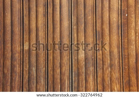 The wall made of wooden panels with obvious texture