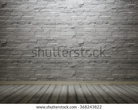 The wall of gray brick for the background. Wall vintage interior. 3D render