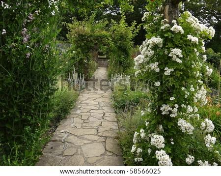 The walled garden - stock photo
