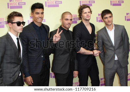 The Wanted at the 2012 Video Music Awards Arrivals, Staples Center, Los Angeles, CA 09-06-12 - stock photo