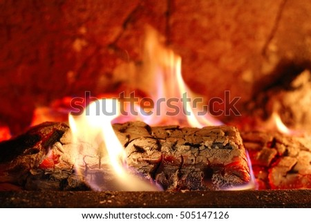 the warmth of the fire