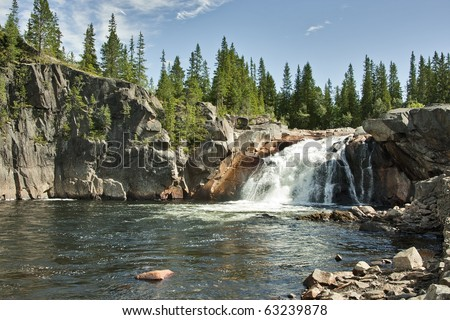 The waterfall in Norway - stock photo