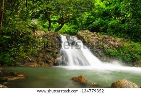 The waterfall sarika National Park, nakon-nayok thailand. - stock photo