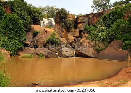 The waterfalls of banfora in burkina faso - stock photo