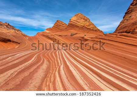 The Wave , Arizona - stock photo