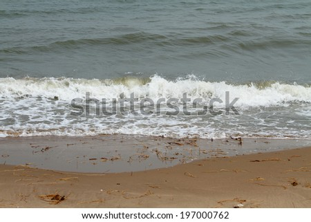 The wave on the sea - stock photo