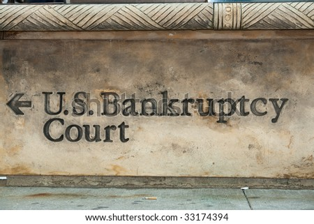 The way to and out of bankruptcy - stock photo