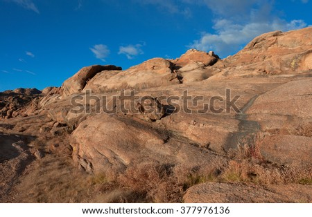 The weathering crust in red - stock photo