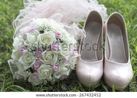 The wedding flowers - stock photo