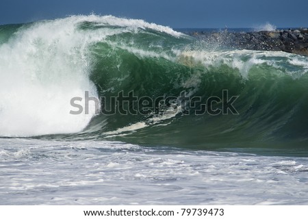 The Wedge Newport Beach - stock photo