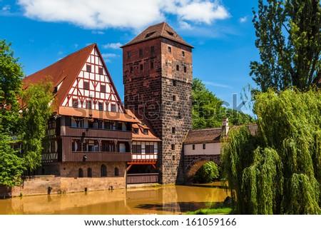 The Weinstadel building (Wine Store) in Nuremberg, Germany - stock photo