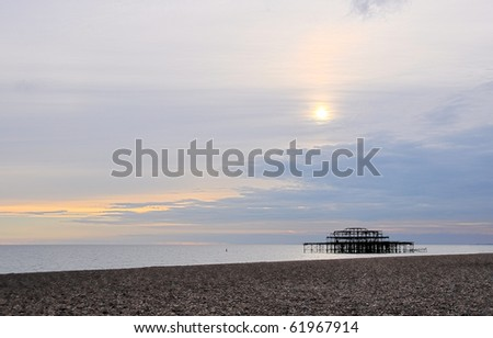 The west Pier in Brighton, UK - stock photo
